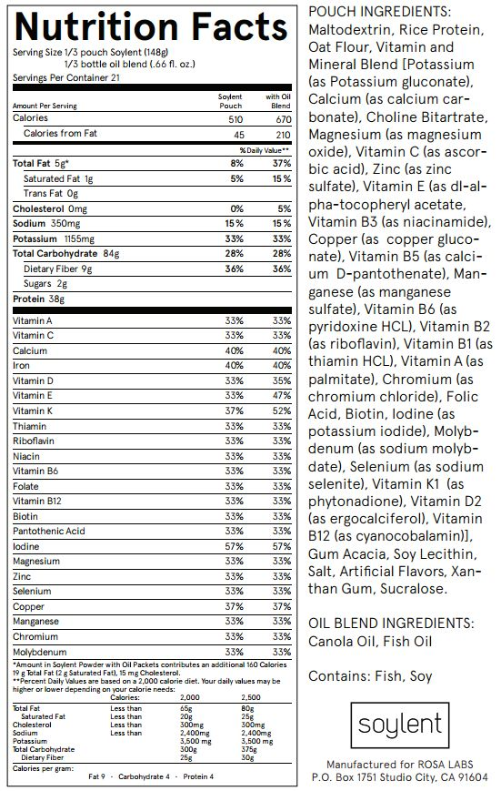 Soylent Food Replacement Review