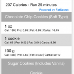 Calorie App - How much to run?
