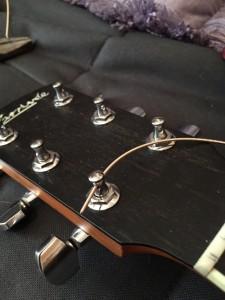 stringing a guitar - thread