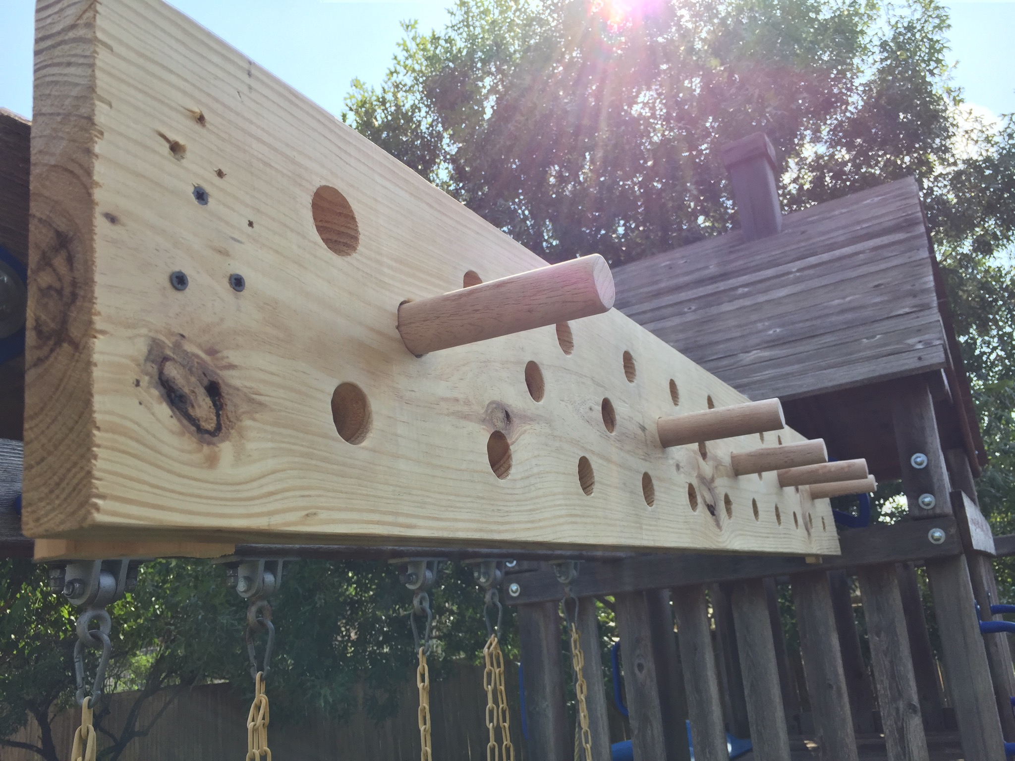 Diy Pegboard For Exercise Like American Ninja Warrior