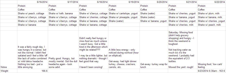 7 days protein shake diet