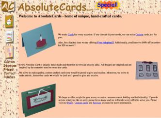 original absolutecards.com